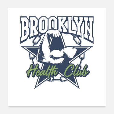 Health Brooklyn Health Club - Poster 60x60 cm