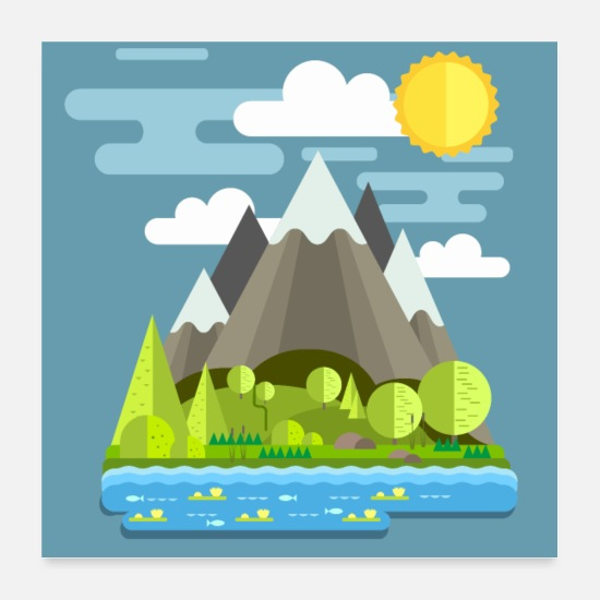 Paysage Posters - montagnes - Posters blanc