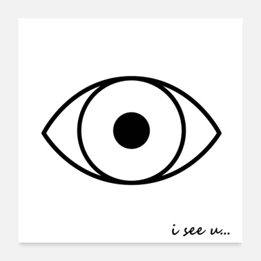 Opticien AFFICHES I SEE U - Poster 60 x 60 cm