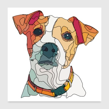 jack russel - Poster 60 x 60 cm