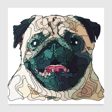 mops2 - Poster 60 x 60 cm