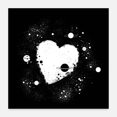 Black And White Collection Universe-poster - Poster 60x60 cm