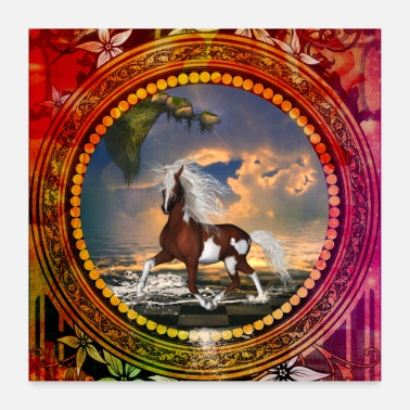 Galop Super cheval - Poster 60 x 60 cm