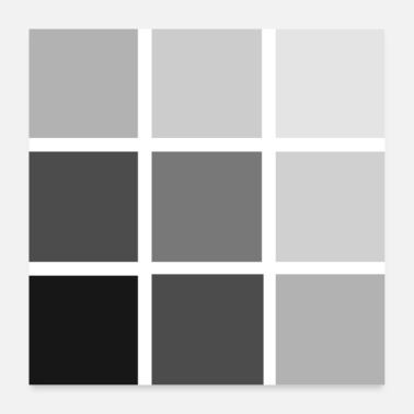 Square Gray squares - Poster 24 x 24 (60x60 cm)