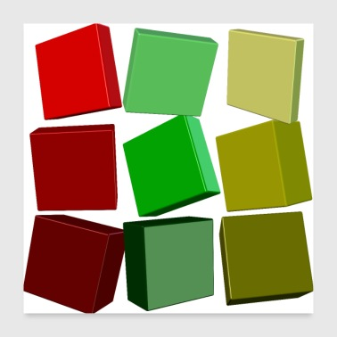 Colorful squares - Poster 24 x 24 (60x60 cm)