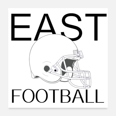 East Coast Football, ball, sport, cool, horny, east, coast - Poster