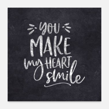 Typo Collection YOU MAKE MY HEART SMILE BY SUBGIRL - Poster