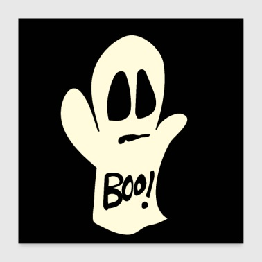 Ghost Halloween Shirt - Ghost - Boo! - Poster 24 x 24 (60x60 cm)