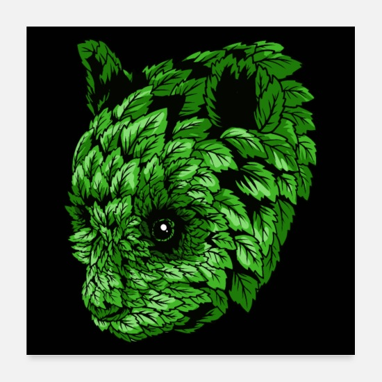 Animal Collection V2 Posters - Green Panda - Posters white