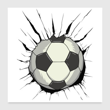 Football révolutionnaire - destruction de la paroi de la balle - Poster 60 x 60 cm