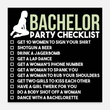 Alkohol Bachelor Party Checklist - JGA Brudgom Rumble - Poster