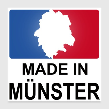 Made in Münster Sport Logo - Poster 60x60 cm