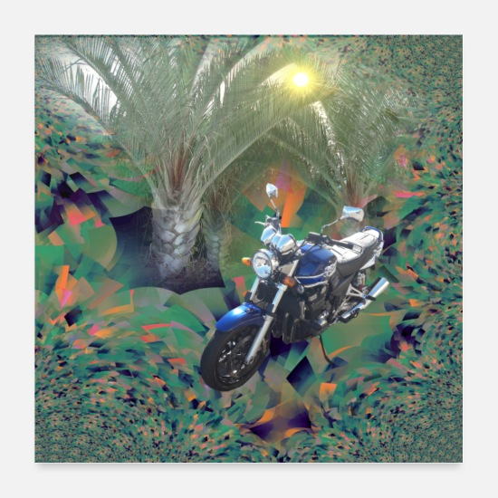 Rest Posters - Motorcycle in the Canary Islands - Posters white