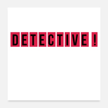 Television detective - Poster 60x60 cm
