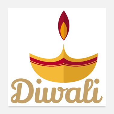 Sieg Diwali light - gift idea - Poster 24 x 24 (60x60 cm)