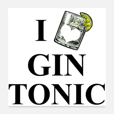 Gin And Tonic I Love Gin Tonic - Poster