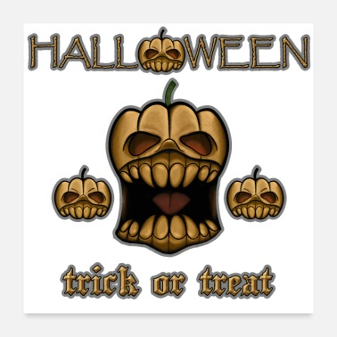 Trick Or Treat Halloween Trick Or Treat - Poster 60x60 cm