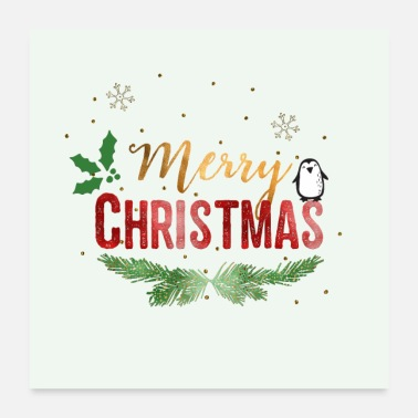 Shop Merry Christmas Posters Online Spreadshirt