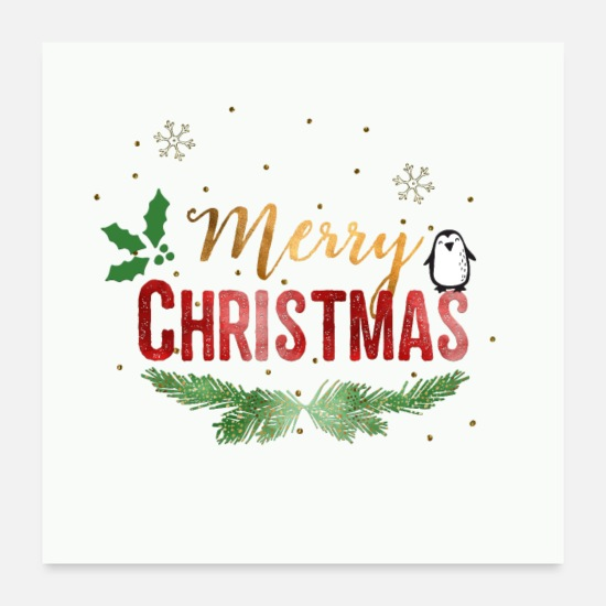 Merry Christmas Posters White