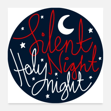 Typo Collection V2 silent Night Holy Night - Poster