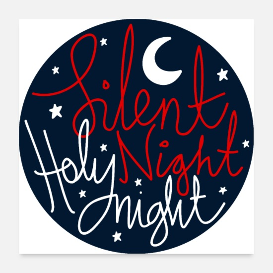 Christmas Collection Posters - silent Night Holy Night - Posters white