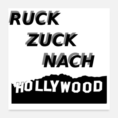 Hollywood Ruck Zuck Nach HOLLYWOOD - Poster