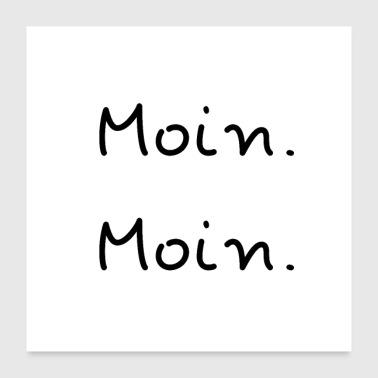 Boot MOIN MOIN - Poster 60x60 cm