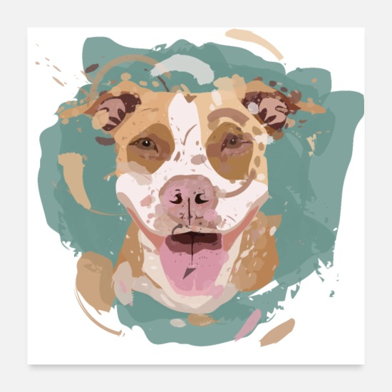 Dog Owner Posters - Pitbull Dog Gift Dog Stafford Terrier - Posters white