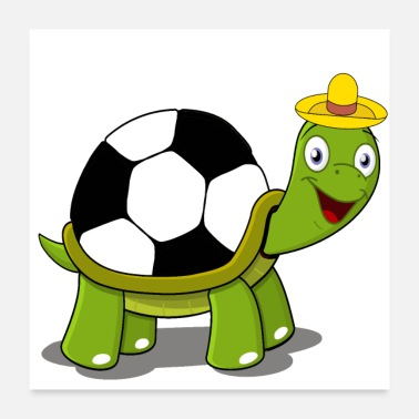 Ball The Turtle Ball - Poster 60x60 cm