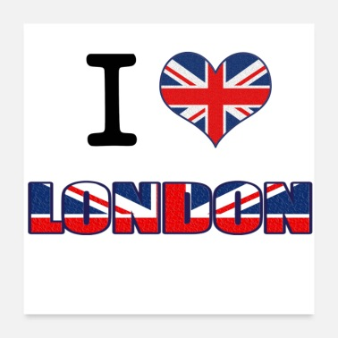 London London love - Poster 24 x 24 (60x60 cm)