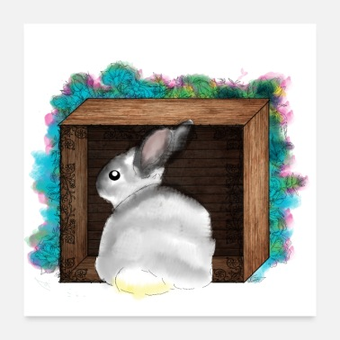 Naughty Naughty Rabbit Betty - Poster 24 x 24 (60x60 cm)