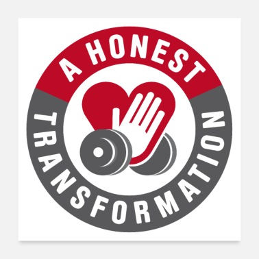 Lifting Honest Transformation Heart - Poster 24 x 24 (60x60 cm)