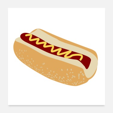Sausage hot dog - Poster 24 x 24 (60x60 cm)