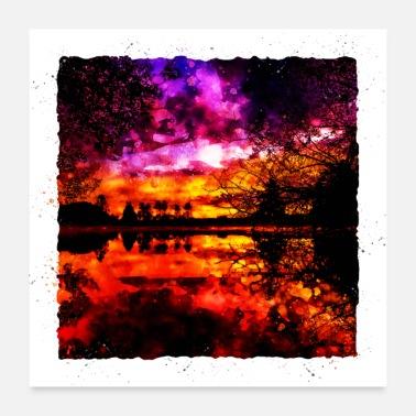 778341069a9 GXP farverige efterår sønedgang landskab - Poster