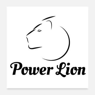 Power power lion - Poster