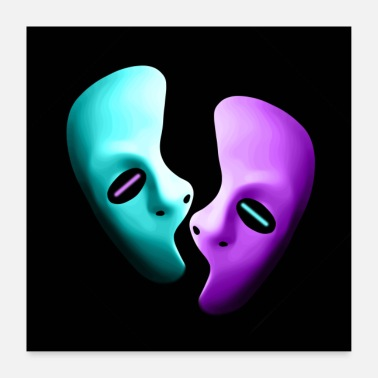 Homme masques - Poster 60 x 60 cm