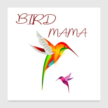 Stormo Di Uccelli Camicia Bird Budgie Mama Parrot Gift - Poster 60x60 cm