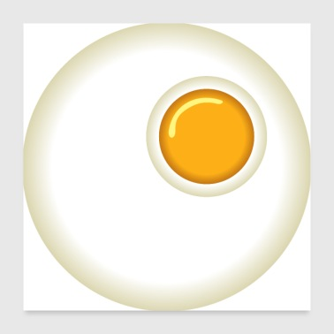 Egg fried egg - Poster 24 x 24 (60x60 cm)