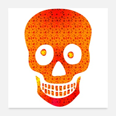 Kurpitsa Party Halloweeen Skull - Juliste 60x60 cm