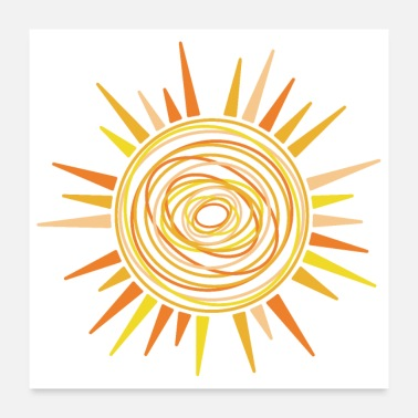 Children Sunshine Waldkind You are the sunshine Ges - Poster 24 x 24 (60x60 cm)