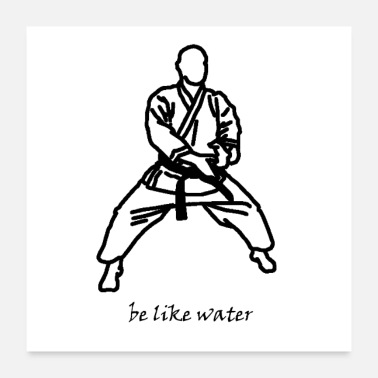 Capoeira be like water - Poster 24 x 24 (60x60 cm)