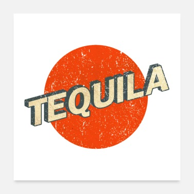 Tequila Tequila Retro Logo vintage - Poster