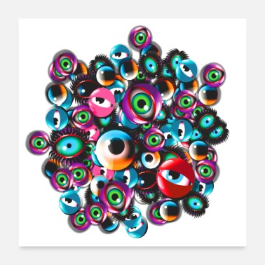 Party Monster Eyes Party - Poster 60x60 cm