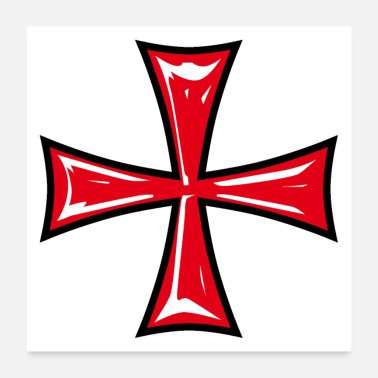 Templar 13 Templar Cross Knight's Cross Crusader - Poster