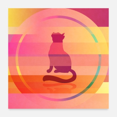 Miscellaneous Colorful cat - Poster