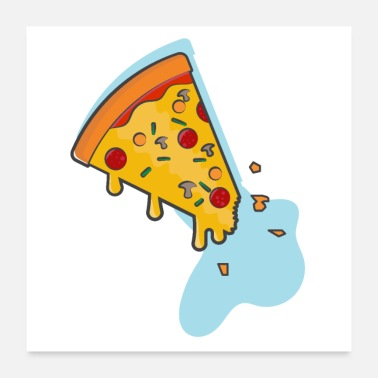 Pizza Pizza party - Poster 24 x 24 (60x60 cm)