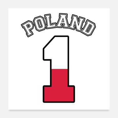 Number Poland number 1 - Poster 24 x 24 (60x60 cm)