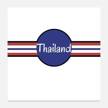 Thailand Thailand flag and color - Poster