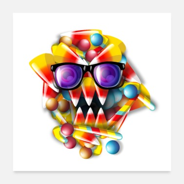 Strange Candy Monster - Poster 24 x 24 (60x60 cm)