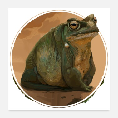 Teenager Big Toad Bufo - Poster 60x60 cm